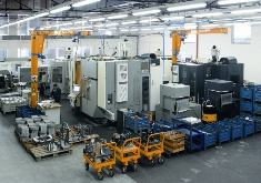 Shop with five-axis machining centers.